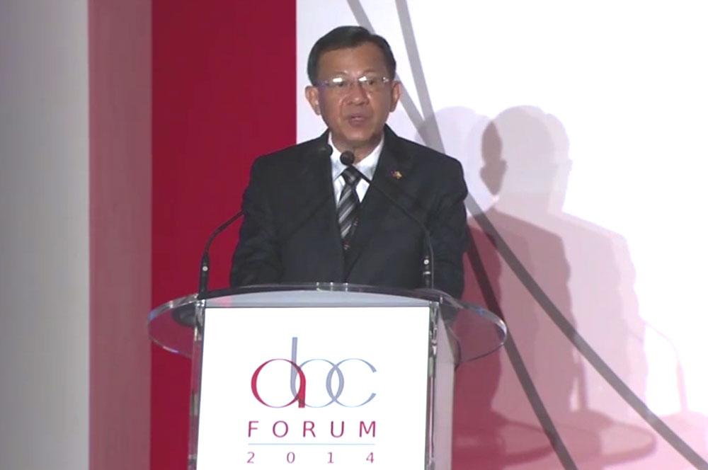 ASEAN Business Club Forum 2014- Keynote Address By The Hon. Prof. Kan Zaw